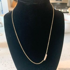 Dainty gold colored necklace